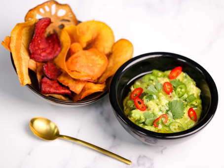 Noble House At Home Recipes – Smashed Avocado & Home-made Vegetable Crisps