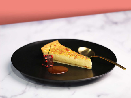Noble House At Home Recipes - Baked Egg Custard Tart with a Spiced Crust