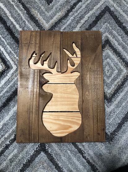 Double deer wood