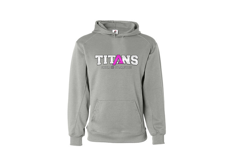 Titan Hoodie with Pink Logo