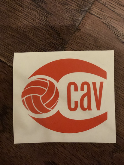 CAV orange decal
