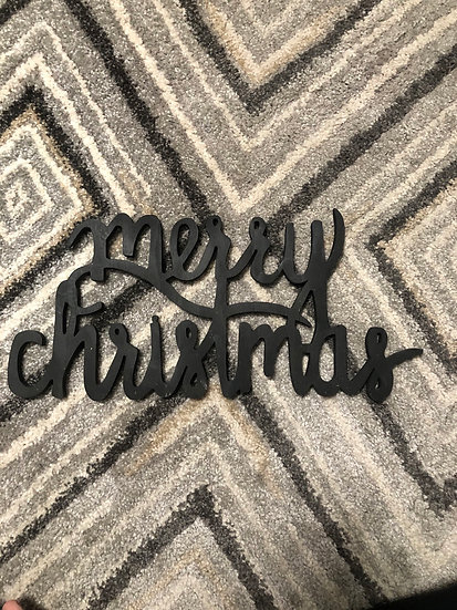 Wooden merry Christmas words