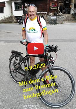 Mit dem e-Bike den Brenner hochgeflogen