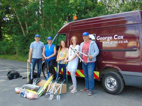 Hey ho! Hey ho! Thank you George Cox foundation