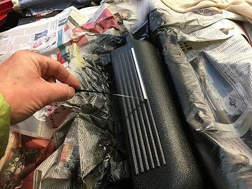 peeling of stripe masking