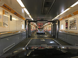 Lancia Deltas in Eurotunnel