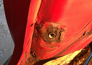 lancia delta rusty seat belt