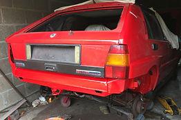 jacked up Lancia Delta