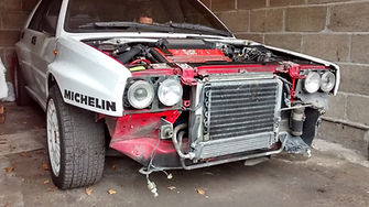 Lancia Delta front end removed
