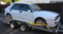 lancia integrale on trailer