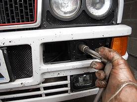 lancia delta bumper removal