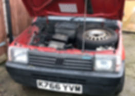 Fiat Panda engine bay