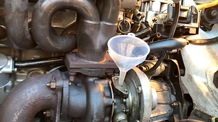filling turbo with oil
