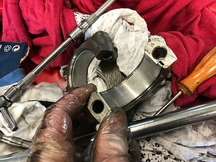 grit contaminated bearing