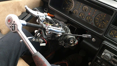 Lancia Delta Evo2 steering wheel removed