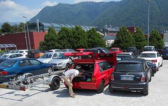 Lancia Deltas at Lake Como