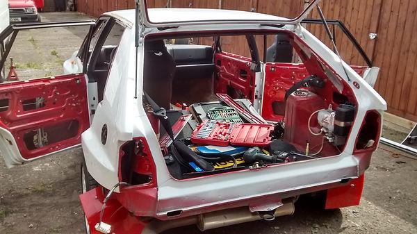 Lancia Delta stripdown rear