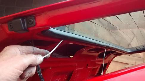Lancia delta rear screen install