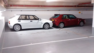 2 lancia deltas waiting for action