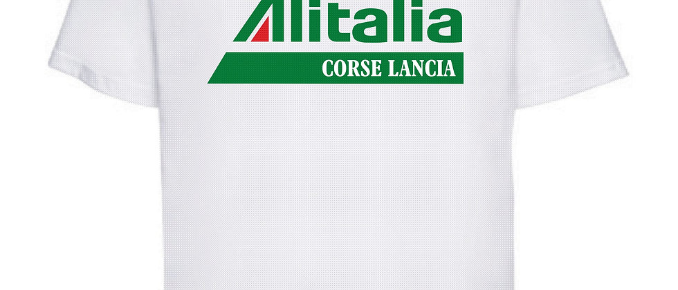 Alitalia T shirt. Russel Athletic T with classic logo and Lancia Racing