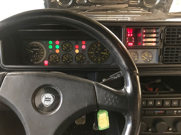 Integrale dash warning lights