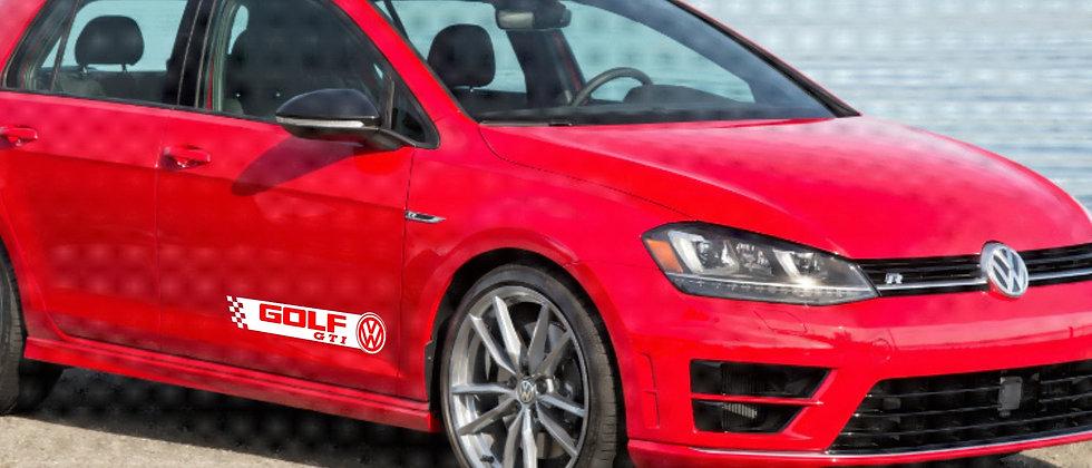 VW GOLF GTI sidewinder door decals. 1 x pair of 2