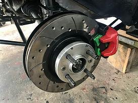 Integrale rear brakes