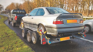 bmw m3 on trailer