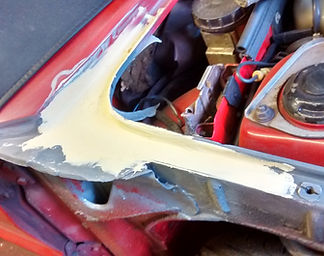 Delta wing with filler