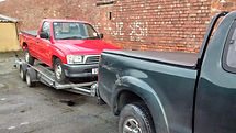 hilux on trailer