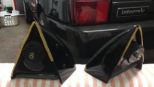 Lancia Delta WRC style mirrors adhesive tape