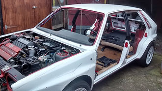 Lancia Delta ready for repaint