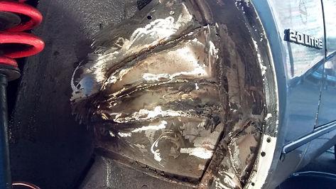tr7 inner wing welded up