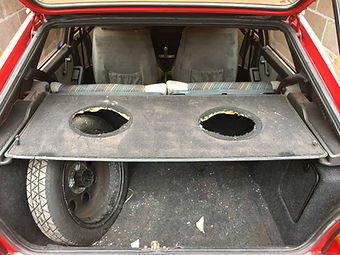 lancia delta parcel shelf holes