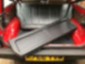 Fiat Panda parcel shelf removed