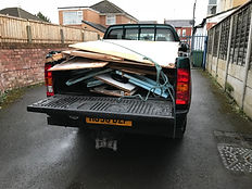 Toyota Hilux loaded for tip