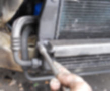 lancia delta oil cooler remove