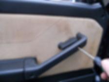 removing Lancia Delta door armrest