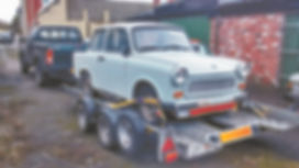 trabant on trailer