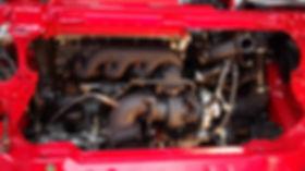 Lancia Delta engine installed