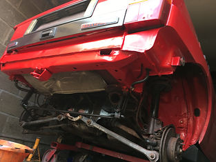 lancia delta rear end repaired