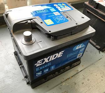 new Exide battery