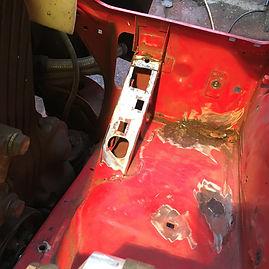 Lancia Delta repairing rust