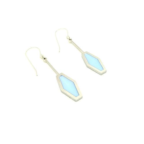 Blue Argyle Earrings
