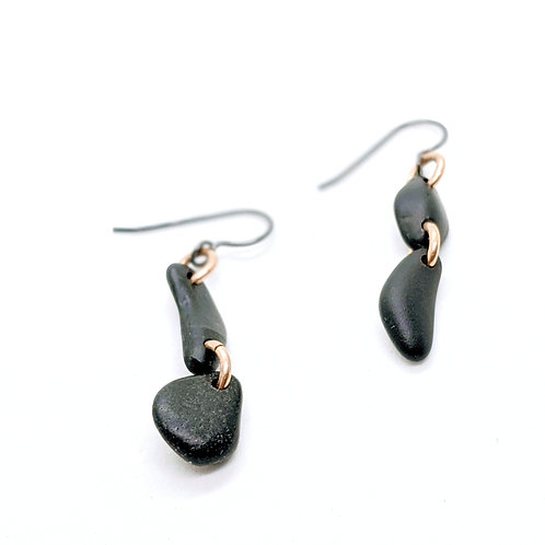 Double Stone Drop Earrings