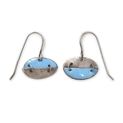 Pac-Man Earrings in Sky Blue
