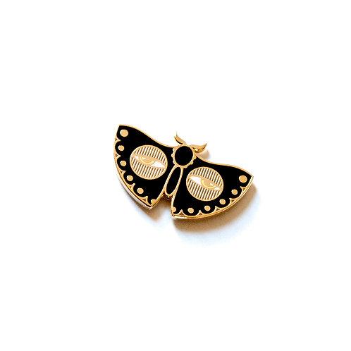 Black Moth Pin