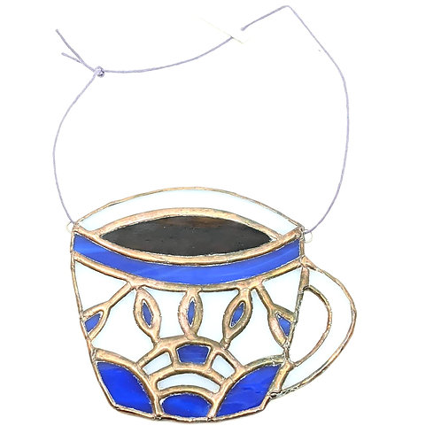 Coffee Cup, Stained Glass