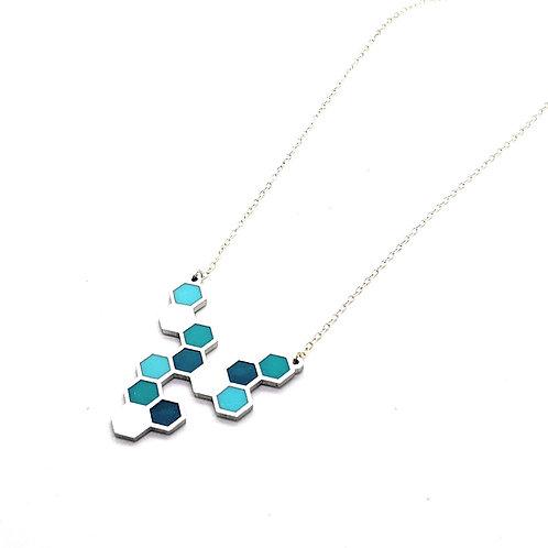 Blue Hive Necklace