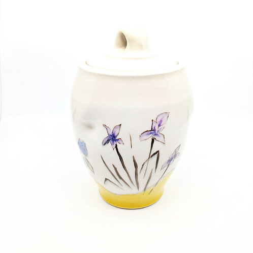 Iris and Fruit Jar